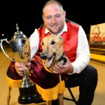 Azza Azza Azza and handler Brad Keel with the Shepparton Cup